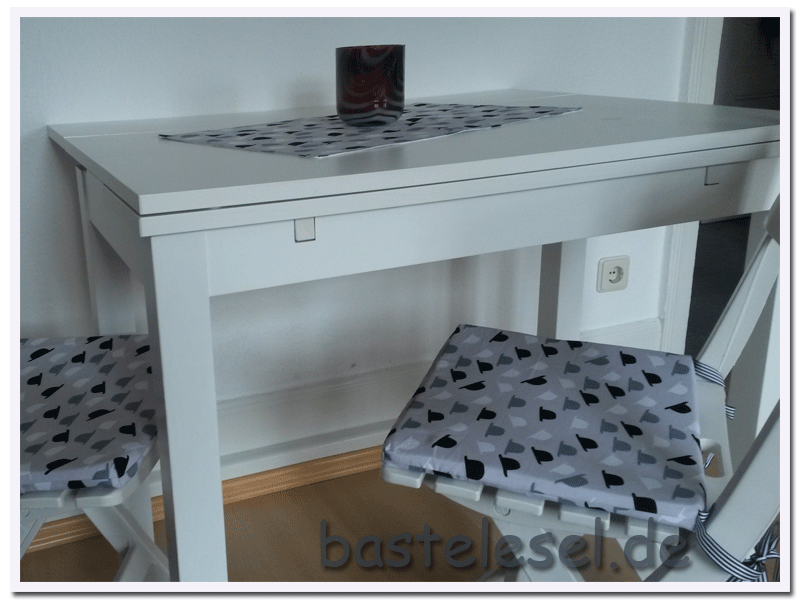 stuhlkissen bastelesel. Black Bedroom Furniture Sets. Home Design Ideas